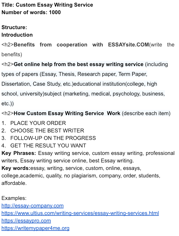 don't buy essays ever